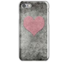 Vintage Valentines Heart in Pink Opalescence heart iPhone Case/Skin