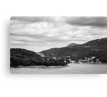 Dubrovnik Landscape BW Canvas Print