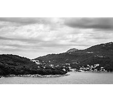 Dubrovnik Landscape BW Photographic Print