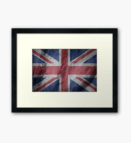 United Kingdom Great Britain Fabric Flag Framed Print