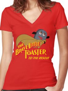The Brave Little Toaster to the Rescue Women's Fitted V-Neck T-Shirt