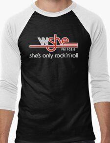 She's Only Rock 'n Roll (WH) Men's Baseball ¾ T-Shirt