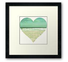 I Heart the Beach Framed Print