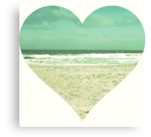 I Heart the Beach Canvas Print