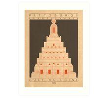 Gulf Building - 1932 (Orange) Art Print