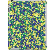 Crowded Flowers - Yellow Blue and Green iPad Case/Skin