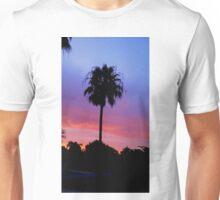 Lonely Sunset Palm Tree Unisex T-Shirt
