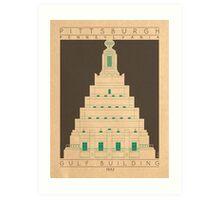 Gulf Building - 1932 (Green) Art Print