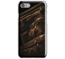 Brown travelling suitcases iPhone Case/Skin