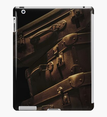 Brown travelling suitcases iPad Case/Skin