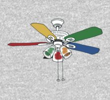 Rainbow Ceiling Fan One Piece - Long Sleeve