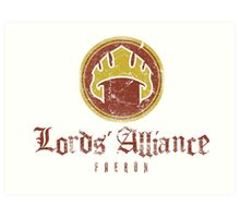 The Lords Alliance Art Print