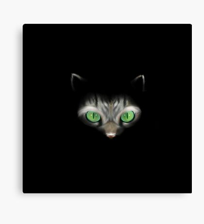 Cat in the dark Canvas Print