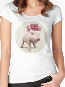 The elegant Miss Piggy Women's Fitted Scoop T-Shirt