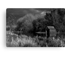Boathouse on the Windrush Canvas Print