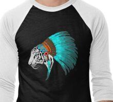 Abstract Tiger Chief Men's Baseball ¾ T-Shirt