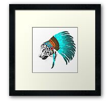 Abstract Tiger Chief Framed Print