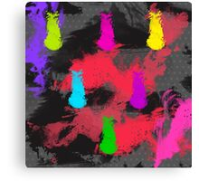 Totally 80's Spatter Painting Canvas Print