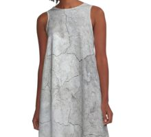 Concrete Texture 01 A-Line Dress