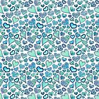 Hippie hearts - Blue-Green by Gingerlique