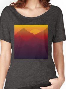 Sunset Mountain Women's Relaxed Fit T-Shirt