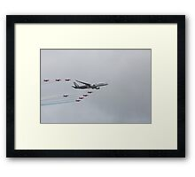 Airbus A350 900 with Red Arrows  Framed Print