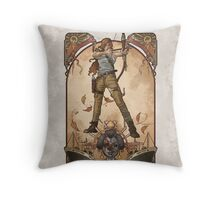 Lara Nouveau Throw Pillow