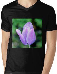 Light Purple Tulip  Mens V-Neck T-Shirt