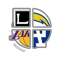 Los Angeles Pro Sports TETRAlogy! Dodgers, Lakers, Kings and Chargers by SplitDecision