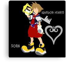 Kingdom Hearts-Sora-Font Canvas Print
