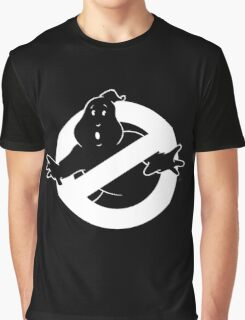 white Ghostbusters logo Graphic T-Shirt