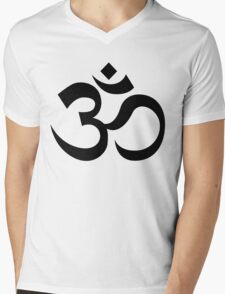 Om Mens V-Neck T-Shirt