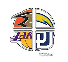 Los Angeles Pro Sports TETRAlogy!: Anaheim Ducks, Padres, Lakers and Chargers by SplitDecision