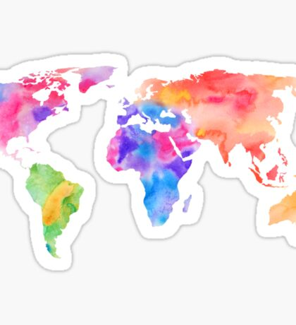 Watercolor World Sticker