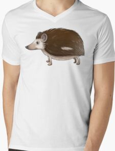 Cartoon Hedgehog Mens V-Neck T-Shirt