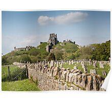 Corfe Castle, Dorset, UK Poster