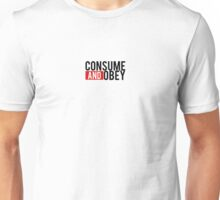 Consume and Obey Logo Basic Red Unisex T-Shirt