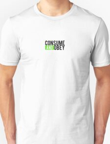 Consume and Obey Logo Basic Green Unisex T-Shirt