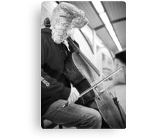 Cellist in a London subway Canvas Print