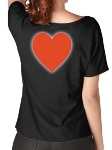 Heart, Love Heart, In love, Pure & Simple, on BLACK Women's Relaxed Fit T-Shirt