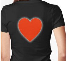 Heart, Love Heart, In love, Pure & Simple, on BLACK Womens Fitted T-Shirt