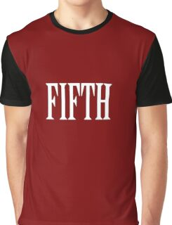 FIFTH, FIVE, NUMBER 5, TEAM SPORTS, 5, Competition, WHITE Graphic T-Shirt