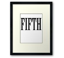 FIFTH, FIVE, NUMBER 5, TEAM SPORTS, Competition, BLACK TYPE Framed Print