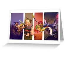 CLASH OF CLANS TOGETHER Greeting Card