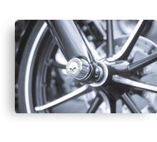 Harley Front Wheel Canvas Print
