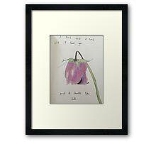 Fleurie Lyrics and Drawing  Framed Print
