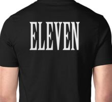 Eleven, Eleventh, 11, TEAM SPORTS NUMBER, Competition, WHITE Unisex T-Shirt