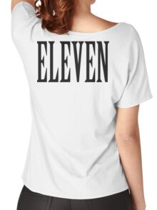 11, Eleven, Eleventh, TEAM SPORTS NUMBER, Competition, BLACK Women's Relaxed Fit T-Shirt