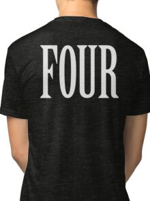 FOUR, 4, TEAM SPORTS, NUMBER 4, FOURTH, Competition, WHITE Tri-blend T-Shirt