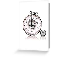 Donut Ride My Bicycle Greeting Card
